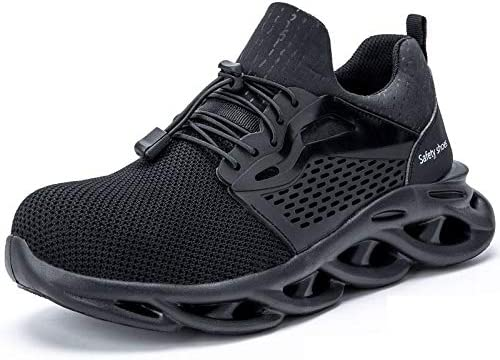 TRYBEST 2020 Breathable Men's Safety Shoes Steel Toe Safety Boots Male Work Sneakers Puncture-Proof Work Boots Men Shoes (Color : JK709 Black, Shoe Size : 38)