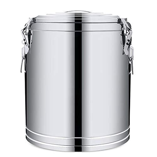 WKDZ Cubo de acero inoxidable, cubo de sopa de aislamiento comercial de gran capacidad para preparar bebidas en polvo y leche de soja (tamaño: 37 L)