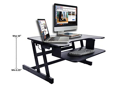 "Rocelco 32"" Height Adjustable Standing Desk Converter 