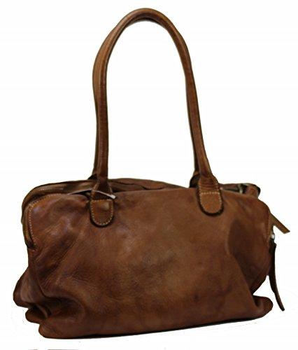 BZNA Bag Vanja cognac Italy Designer Messenger Damen Ledertasche Handtasche Schultertasche Tasche Leder Shopper Neu
