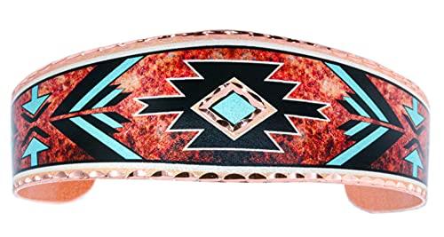 Shouthwest - Pulseras de pulsera con diseño de punta de flecha, diseño tribal de Zuni