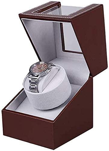 LLSS Caja de Reloj Caja de Almacenamiento de Reloj Caja automática de Doble enrollador de Reloj para Hombres o Mujeres, Caja de Relojes mecánicos automáticos con Motor silenci
