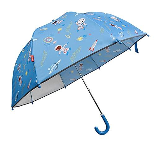 HOUSEHOLD Paraguas para Niños, Paraguas Transparente para Niños y Niñas, Paraguas con Tiras Reflectantes, Adecuado para Niños de 3 a 12 Años