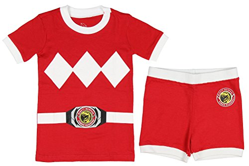 Power Rangers Toddler Character Cotton Pajamas (Red, 3T)