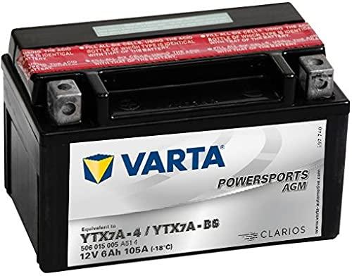 Batería de moto Varta Powersports AGM 50615 - YTX7A-BS