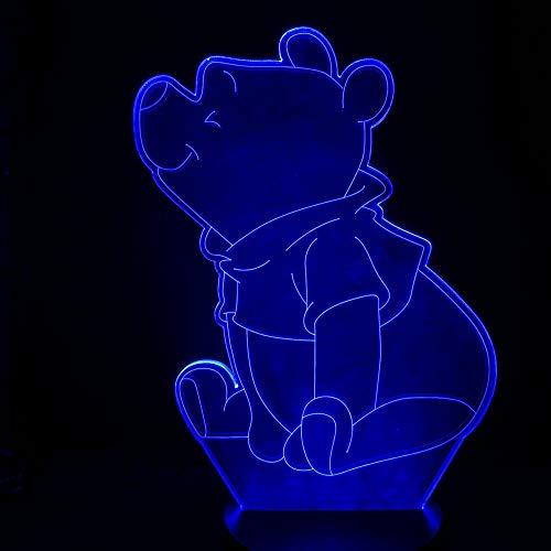 Belle Winnie Led Veilleuse L'Ourson Capteur Décor Ours Lampe 3D Préférée Adolescent Mr Sander Usb Veilleuse Chevet