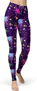 KTYXGKL Salpicaduras artísticas de Las Mujeres Impresas de 80s Leggings cepillados Pantalones Suaves de Mantequilla cepillados Regular y más tamaño Ropa Interior térmica (Color : 24, Size : Medium)