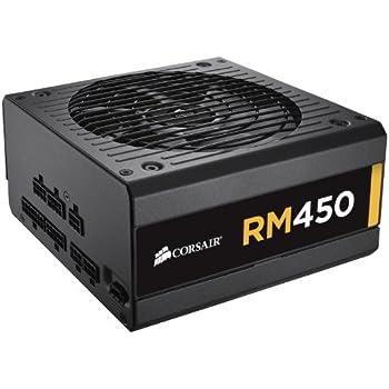Corsair RM Series, RM450, 450 Watt (450W), Fully Modular Power Supply, 80+ Gold Certified
