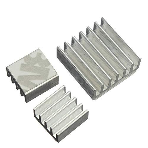 weichuang Elektronisches Zubehör 60 Stück selbstklebender Aluminium-Kühlkörper Kühler Kit für die Kühlung RPi Elektronisches Zubehör Elektronisches Zubehör