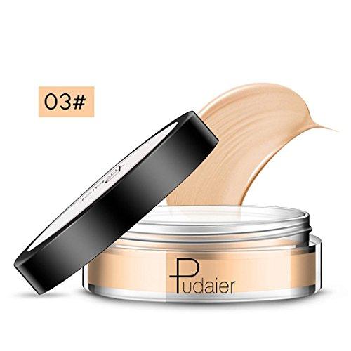 Crème de couverture complète - Dissimulateur de base dissimulatrice - Texture soyeuse et lisse - 15g (Peau sombre)