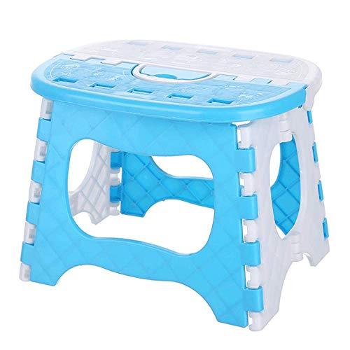 HUIHUAN Taburete plegable Taburete acolchado portátil Taburete para niños Taburete plegable Mazar de pesca Banco pequeño de plástico al aire libre Taburete bajo Tren Mazar,Blue