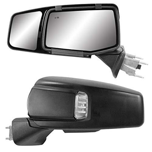 K Source 80930 Snap & Zap Custom Fit Towing Mirror for Chevrolet Silverado 1500/GMC Sierra 1500...