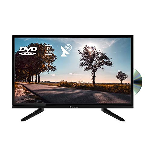 "EMtronics 24"" Inch 720p 12 Volt TV with DVD, HDMI, USB PVR and Satellite Tuner with 12V / 24v Plug"