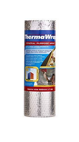 Thermawrap - Isolante sottile per sottotetti, di facile installazione, 600 mm x 7,5 m x 3,7 mm