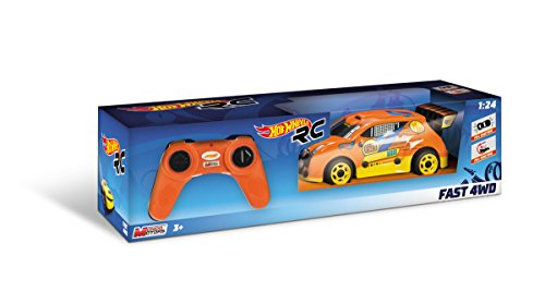 HOT WHEELS - R/C Voiture 1:24 Fast 4WD - Car RC - (Mondo Toys 63310)