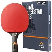 STIGA Royal 3 Sterne Tischtennis Schläger, Schwarz/Rot