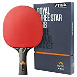 Stiga Royal 3-Star Table Tennis Ping Pong Bat, Black/Red