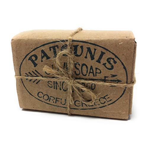 Traditionell handgesiedete natürliche Grüne Olivenseife in Geschenkverpackung von Patounis