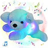 Glow Guards 15'' Light up Musical Stuffed Puppy Dog Soft Pillow Plush with LED Night Lights Lullabies Singing Glow in The Dark Birthday for Toddler Kids