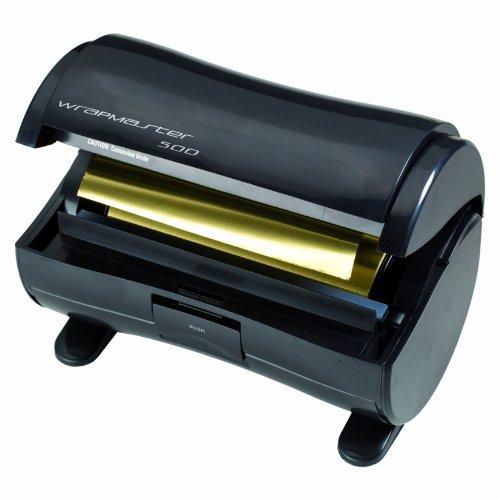 Wrapmaster 500 dispensador de aluminio, color negro
