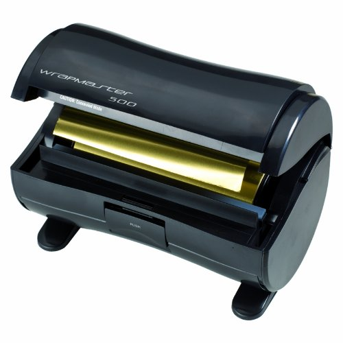 Wrapmaster 500 dispensador de aluminio, color negro