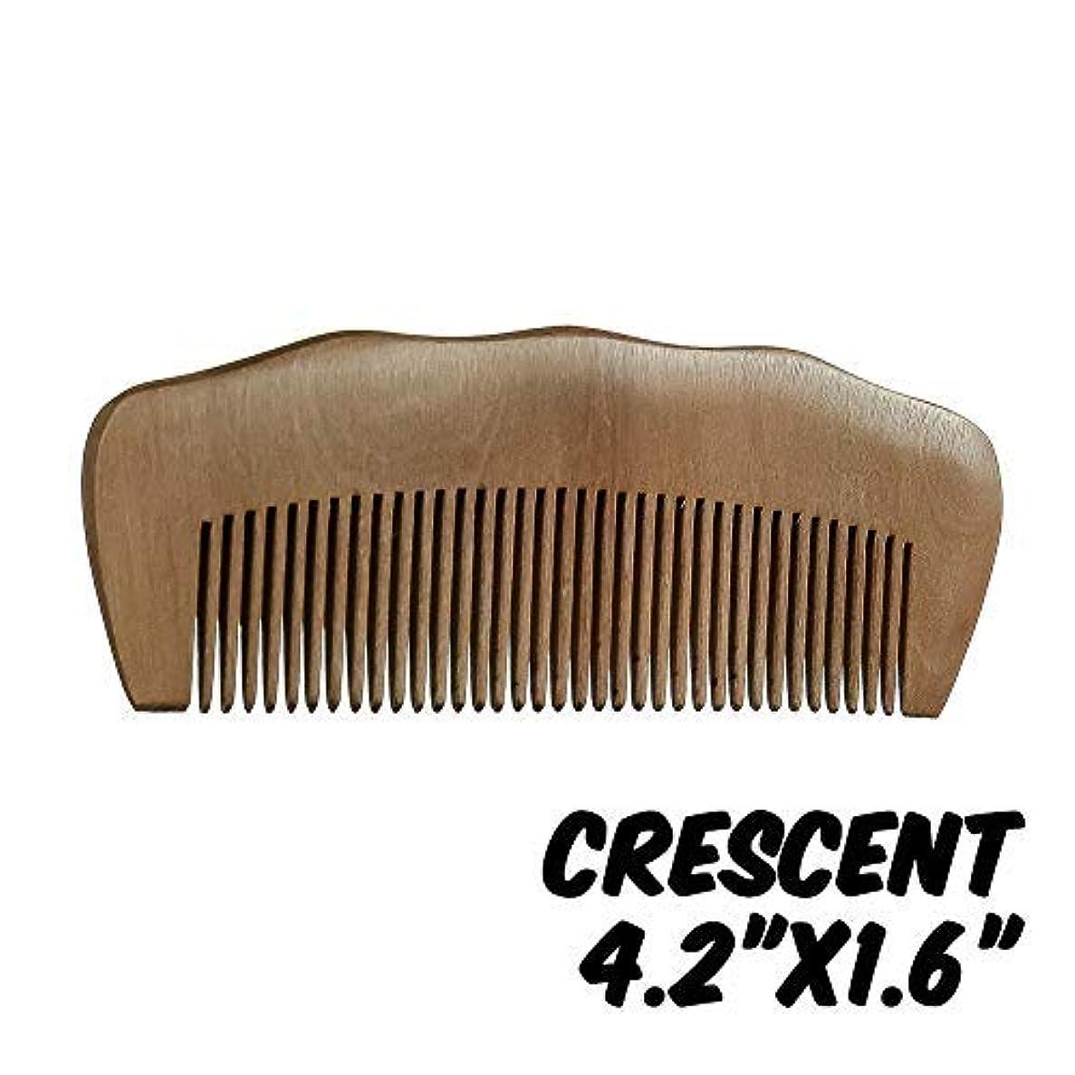 ピクニックうるさい醸造所Markin Arts Crescent Series Handmade Natural Organic Indian Lilac Wood Anti-Static Hypoallergenic Pocket Handle Dry Comb Healthy Shiny Hair Beard Bristle Stubble Styling Grooming Brush 4.2