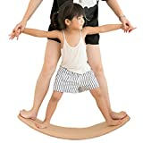 Holz Balance Board, Wobble Balance Board Kinder-Trainingsgeräte Yoga Vorstand Kurvige Vorstand Holz Rocker Board for Kids -