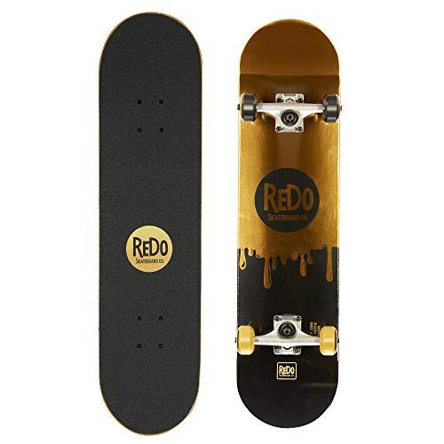 "ReDo Skateboard 31"" x 7.675"" Champion Drip Pop Complete Skateboard for Boys Girls Kids Teens"
