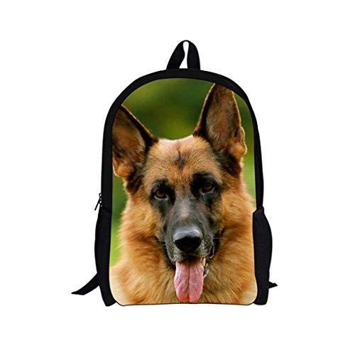 TRFashion Mochila Children School Backpack Cute 3D Animal German Shepherd Printed Student Schoolbags Casual...
