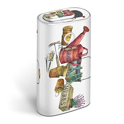 glo グロー グロウ 専用スキンシール 全面 + 天面 + 底面 360°フルセット カバー ケース 保護 フィルム ステッカー デコ アクセサリー 電子たばこ タバコ 煙草 デザイン 花 鉢植え フラワー 014392