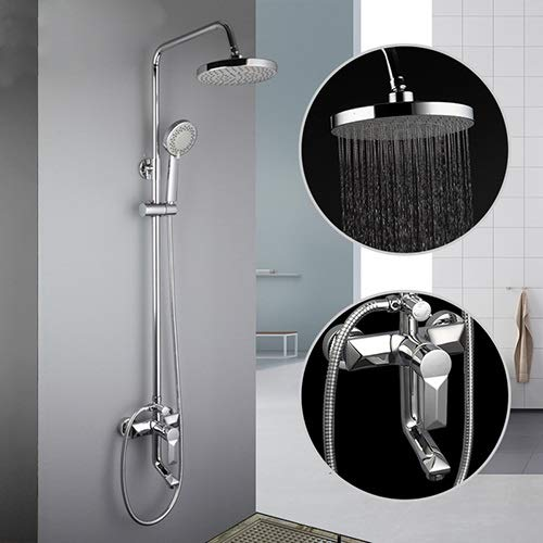 SLLX Duchas grifos de baño contemporánea Grifo de la Ducha del baño Grifos Ducha de Lluvia Head Set Mixer (Color : F2418)
