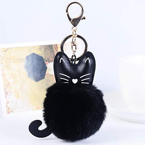 OSYARD Schlüsselanhänger,Keychain,Künstliche Fauschige Niedlich Katzenform Schlüsselring Rucksäcke Handtasche Autoschlüssel Anhänger Keyring Dekor Zubehör Valentinstag Schlüssel Ring
