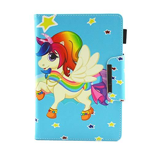 "Universel Étui Tablette de 7"", Coque Housse de Protection pour iPad Mini, Galaxy Tab A6/Tab 3 Lite 7.0, Huawei MediaPad T3 7"", Fire 7, Kobo Aura H2O Edition 2, Lenovo Tab3 7 Essential, Licorne"