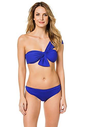Marysia Women's Venice Asymmetrical Bikini Top Denim Blue XS