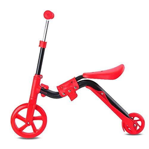 YWSZJ Scooters 2 en 1 para niños con Asiento Plegable Patinete Ajustable para niños Skateboard Walker Balance Bike (Color : C)