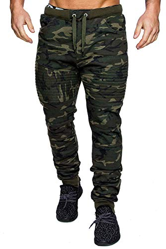 Men's Casual Joggers Fitness Sweatpants Military Camouflage Slim Fit Harem Trouser Pants (Army Camouflage, 3XL)