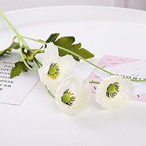 Artificial and Dried Flower Garden Decor Poppy Flower Silk Artificial Flowers Table Arrange Party Decoration Flores S Fleurs Artificielles – ( Color: C )