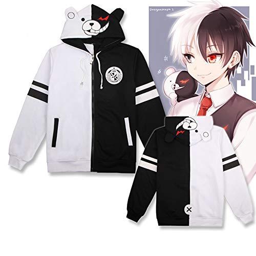 Vokaer Anime Danganronpa Monokuma Hoodie Jacke Unisex Cosplay Kostüm,L
