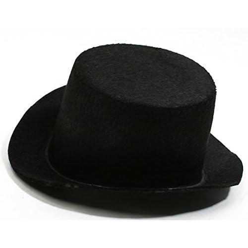 Amazon.com  4 Black Flocked Felt Top Hats - Size  5.5