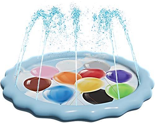 "SplashEZ USA 3-in-1 Splash Pad, Sprinkler for Kids and Toddler Pool for Learning – Children's Sprinkler Pool, 60'' Inflatable Water Toys – ""Color Balloons"" Outdoor Swimming Pool for Babies and Toddler"