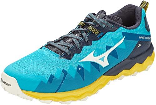 Mizuno Wave Daichi 6, Zapatillas para Carreras de montaña Hombre, Scubab Azufre Blanco de Nieve, 40.5 EU
