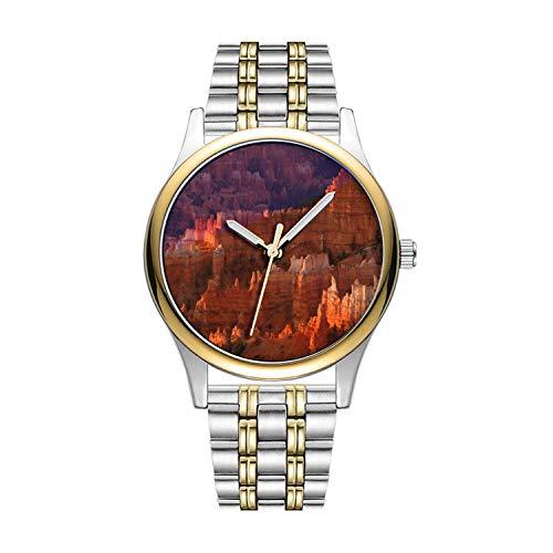 Personalisierte Minimalistische Bryce Canyon National Park Wristwatches Goldene Fashion wasserdichte Sportuhr