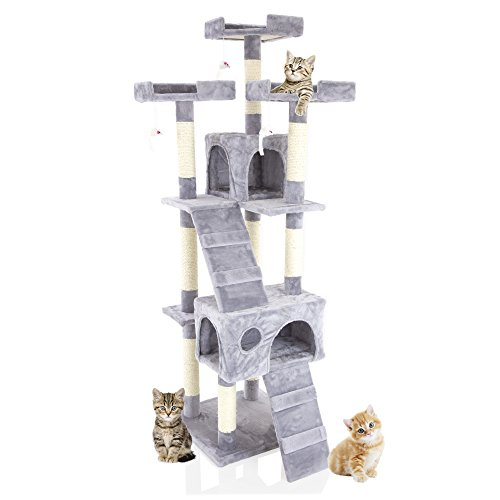 Cozy Pet Deluxe Multi Level Cat Tree Scratcher Activity...