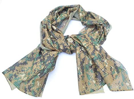 Acid Tactical Camouflage Mesh Material Hunting Shemagh Scarf Balaclava Head Neck Cover Marpat product image