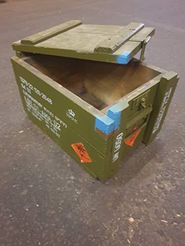 Kistenkolli Altes Land Dänische Munititionskiste Box M00 Holz-kiste-Truhe Schatzkiste Militärkiste - 2