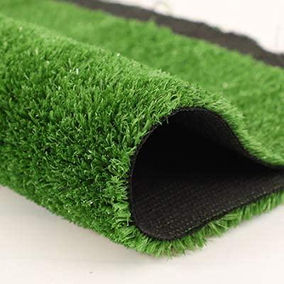 Quesuc La Alfombra de Césped Artificial Premium Para Balcones y Terrazas | Césped Artificial Rollo Exteriores es Permeable al Agua con Protección UV, 15mm de Altura (100x100 cm)