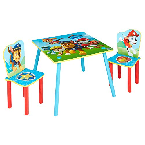 Worlds Apart 527PTR Paw Patrol Tavolo per bambini con 2 sedie, Multicolore