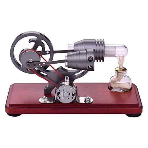 WyaengHai Estilo Retro Stirling Motor Motor Modelo Modelo Flywheel Design Educational Juguete Electricity Generator Science Kit de experimentación Motor Stirling (Color : Gris, Size : One Size)