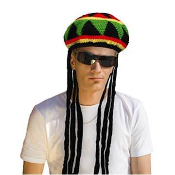 Rastafari-Mütze mit Dread-Locks PREISHIT