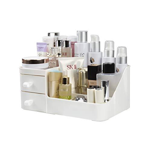 Make-up Organizer, Kosmetik Aufbewahrungsbox mit 3 Schubladen, Organiser Halter für Mascara, Lippenstift, Nagellack, Aufbewahrung für Badezimmer, Schminktisch, Büro